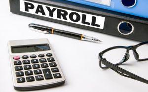 payroll concept on business folder